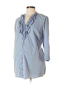 Liz Lange Maternity 3/4 Sleeve Button-Down Shirt Size M (Maternity)
