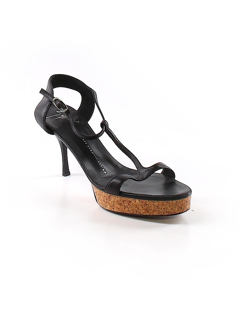857080e5f48 Giuseppe Zanotti 100% Leather Color Block Black Heels Size 39 (EU ...