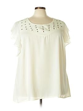 City Chic Short Sleeve Blouse Size XXL (Plus)