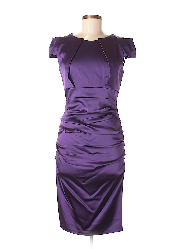 Jax Solid Dark Purple Cocktail Dress Size 8 - 82% off   thredUP