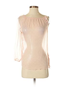 Sisley 3/4 Sleeve Silk Top Size XS