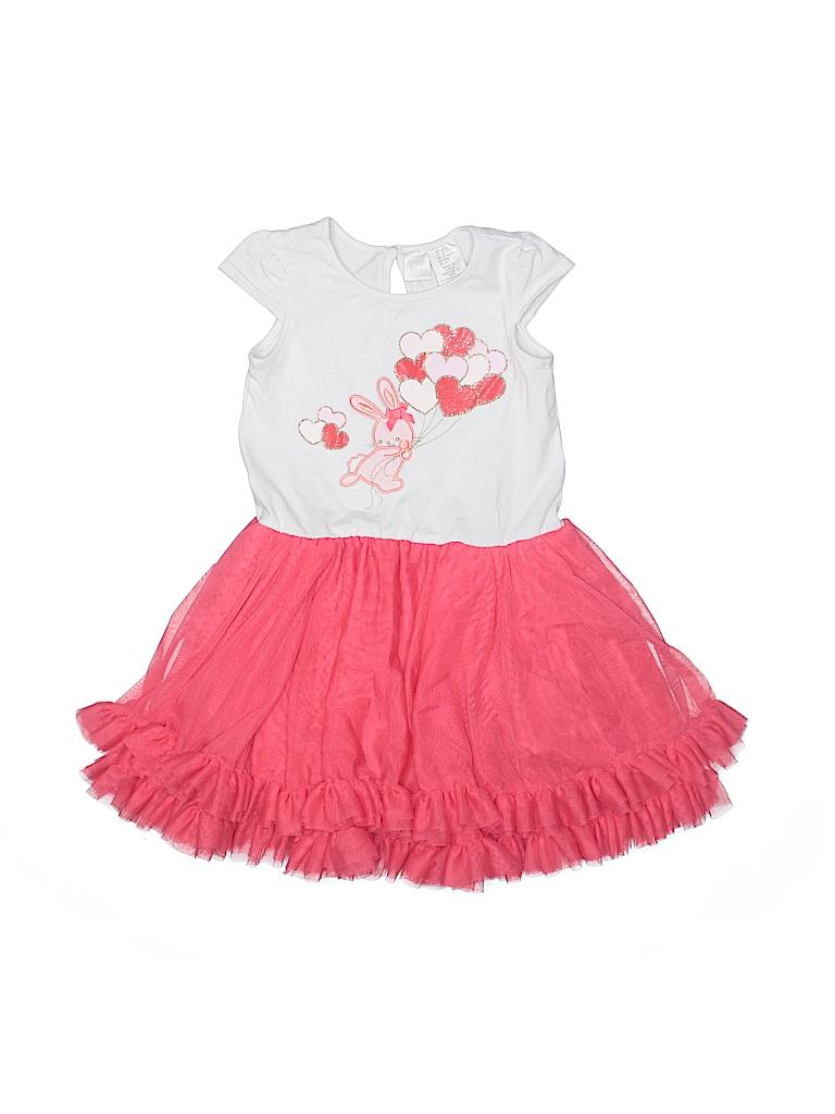 214ed0c2cf69 Marshalls Graphic Pink Dress Size 4T - 64% off | thredUP