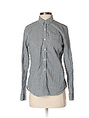 Eddie Bauer Women Long Sleeve Button-Down Shirt Size S
