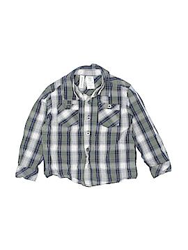 Toughskins Long Sleeve Button-Down Shirt Size 3T