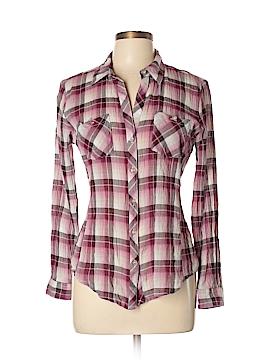 Sandra Ingrish Long Sleeve Button-Down Shirt Size L