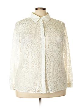 City Chic Long Sleeve Button-Down Shirt Size 18 Plus (M) (Plus)