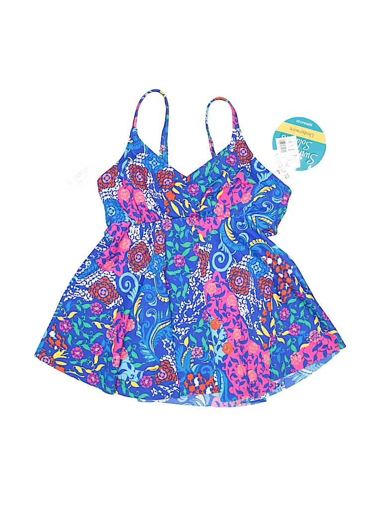 82017aa8b4 Swim Solutions Print Dark Blue Swimsuit Top Size 8 - 62% off