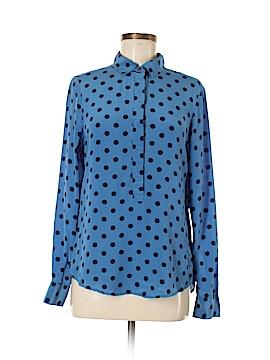 Joe Fresh Long Sleeve Silk Top Size M