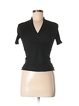 Edward Short Sleeve Silk Top Size M