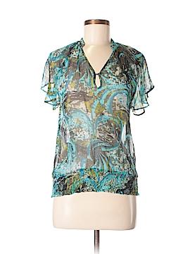 Ya-Da Short Sleeve Silk Top Size XS