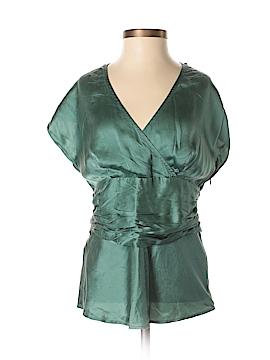 Monsoon Short Sleeve Silk Top Size 8 (UK)