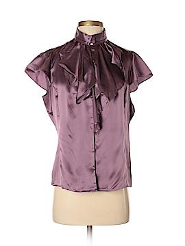 Zoa Short Sleeve Silk Top Size L