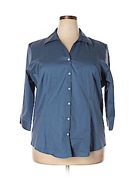 Eddie Bauer 3/4 Sleeve Button-Down Shirt Size XXL