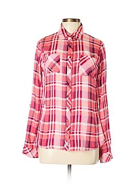 Rebellion Long Sleeve Button-Down Shirt Size L