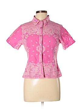 Boston Proper Short Sleeve Button-Down Shirt Size 10