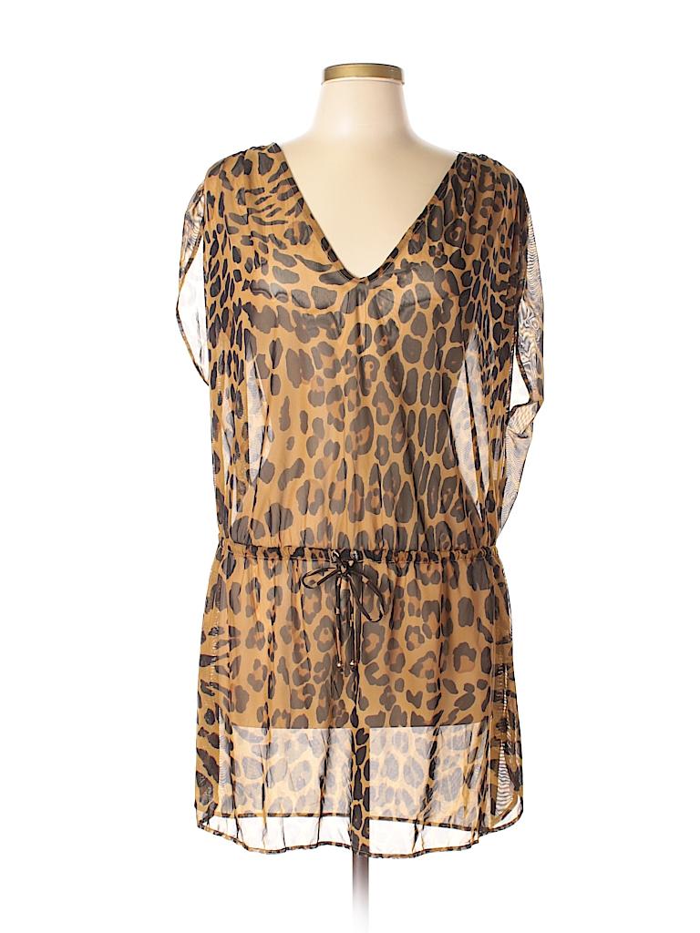 c3a3480a22 Lauren by Ralph Lauren Animal Print Brown Swimsuit Cover Up Size L ...