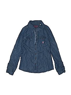 Guess Long Sleeve Button-Down Shirt Size L (Kids)