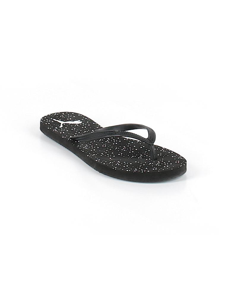 3adc2d686df6 Puma Polka Dots Graphic Black Flip Flops Size 5 - 6 - 60% off