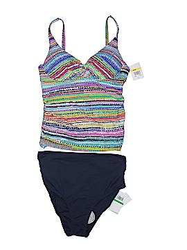 Anne Cole Signature Two Piece Swimsuit Size Lg (34 B/C)