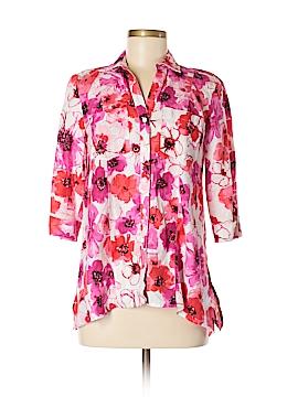 Jones New York Sport 3/4 Sleeve Button-Down Shirt Size S (Petite)