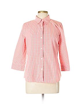 IZOD 3/4 Sleeve Button-Down Shirt Size L
