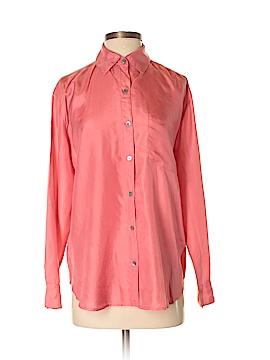 Garnet Hill Long Sleeve Silk Top Size 4