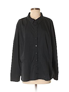 Jessica London Long Sleeve Button-Down Shirt Size 22 (Plus)