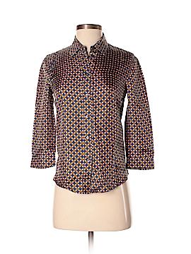 Prada 3/4 Sleeve Silk Top Size 38 (IT)