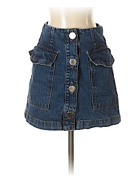 Moto Denim Skirt 26 Waist