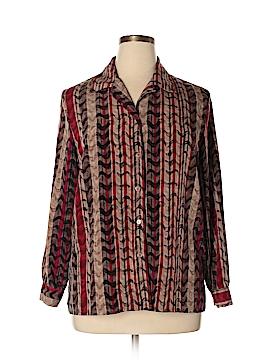 TanJay Long Sleeve Button-Down Shirt Size 14