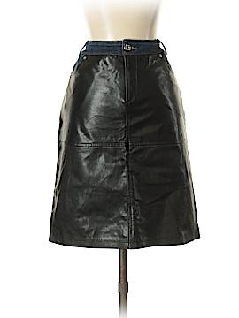 D&G Dolce & Gabbana Faux Leather Skirt 26 Waist