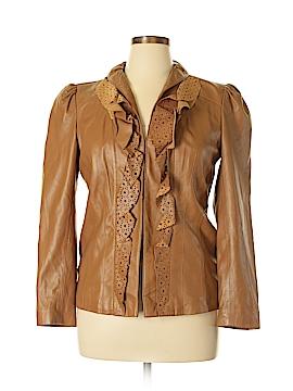 IMAN Leather Jacket Size L
