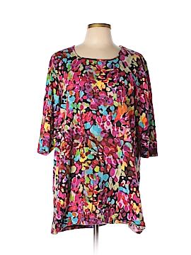 Ulla Popken 3/4 Sleeve T-Shirt Size 12 - 14