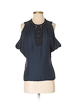 Mint 3/4 Sleeve Silk Top Size 2