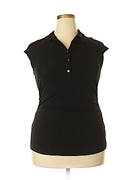 Ellen Tracy Short Sleeve Blouse Size L