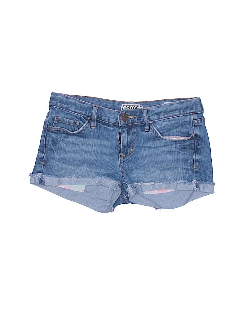 c18c64f833 Roxy Solid Blue Denim Shorts Size 1 - 94% off | thredUP