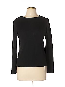 August Silk Long Sleeve Silk Top Size L