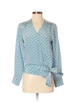 Paul & Joe Long Sleeve Silk Top Size Med (2)