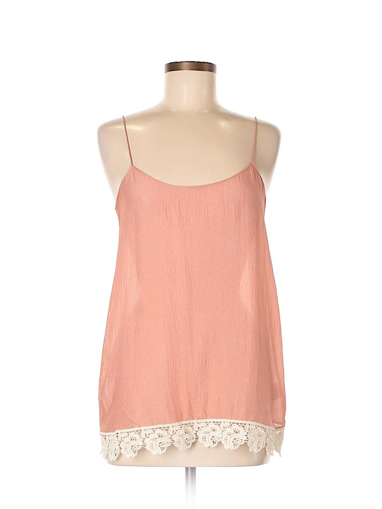La Fee Verte Women Sleeveless Silk Top Size M