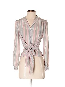 Jones New York Long Sleeve Silk Top Size 2 (Petite)