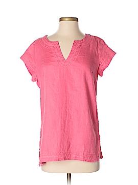 St. Tropez West Short Sleeve Blouse Size S