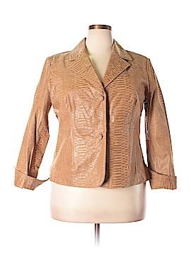 Pamela McCoy Leather Jacket Size 1X (Plus)