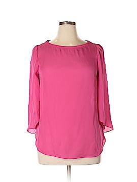 White House Black Market 3/4 Sleeve Silk Top Size 14