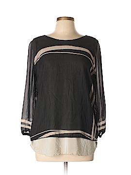 Shamask 3/4 Sleeve Silk Top Size Lg (2)