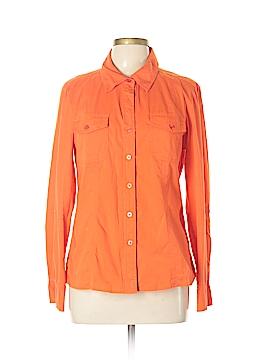 Ellen Tracy Long Sleeve Button-Down Shirt Size 12