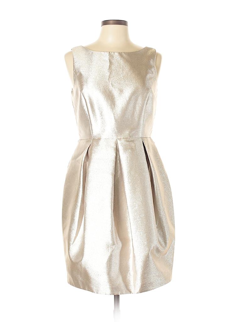 87c368c5ced0 White House Black Market Metallic Gold Cocktail Dress Size 10 - 73 ...