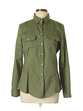 Max Studio Long Sleeve Button-Down Shirt Size L