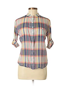 Lark & Wolff 3/4 Sleeve Button-Down Shirt Size M