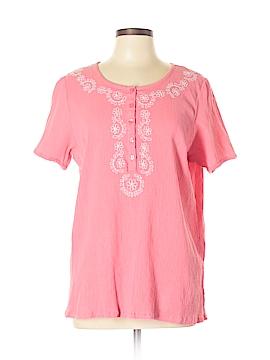 Essentials Short Sleeve Button-Down Shirt Size 0X (Plus)