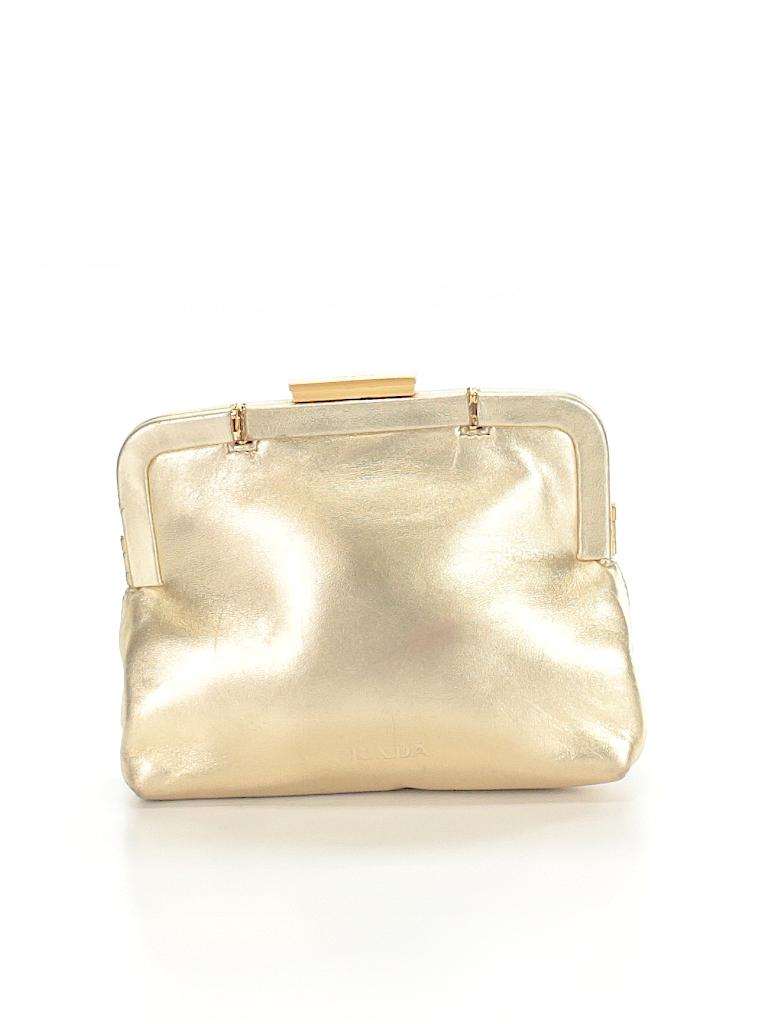 5cf1d0eb47db Prada Metallic Gold Leather Clutch One Size - 77% off